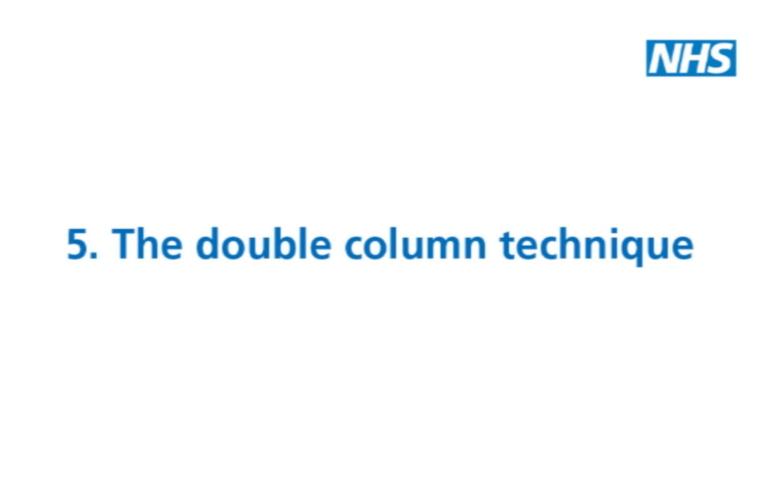 Thumbnail for Depression: The Double Column Technique