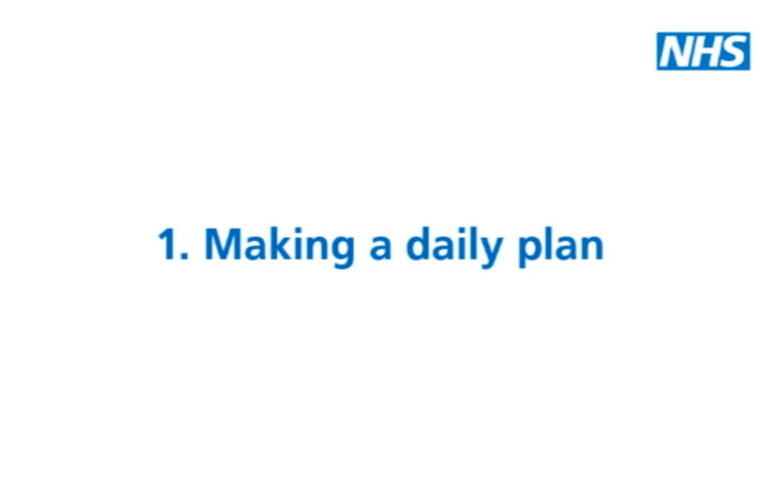 Thumbnail for Depression: Making a daily plan